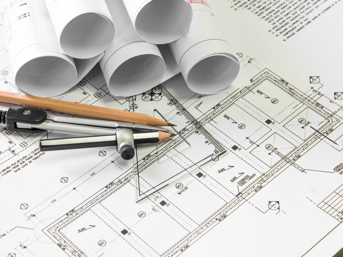 Blue prints and land planning drafting